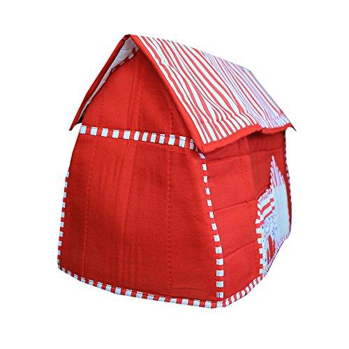 Kuber Industries Stylish Hut Design Sewing Machine Cover (Red) - KI3500