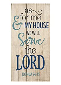 As For Me And My House We Will Serve The Lord Wall Sign 9x18