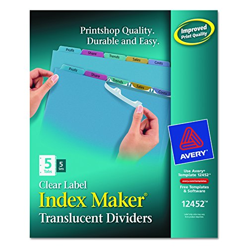 Cheap Avery Index Maker Translucent Dividers with Clear Labels,