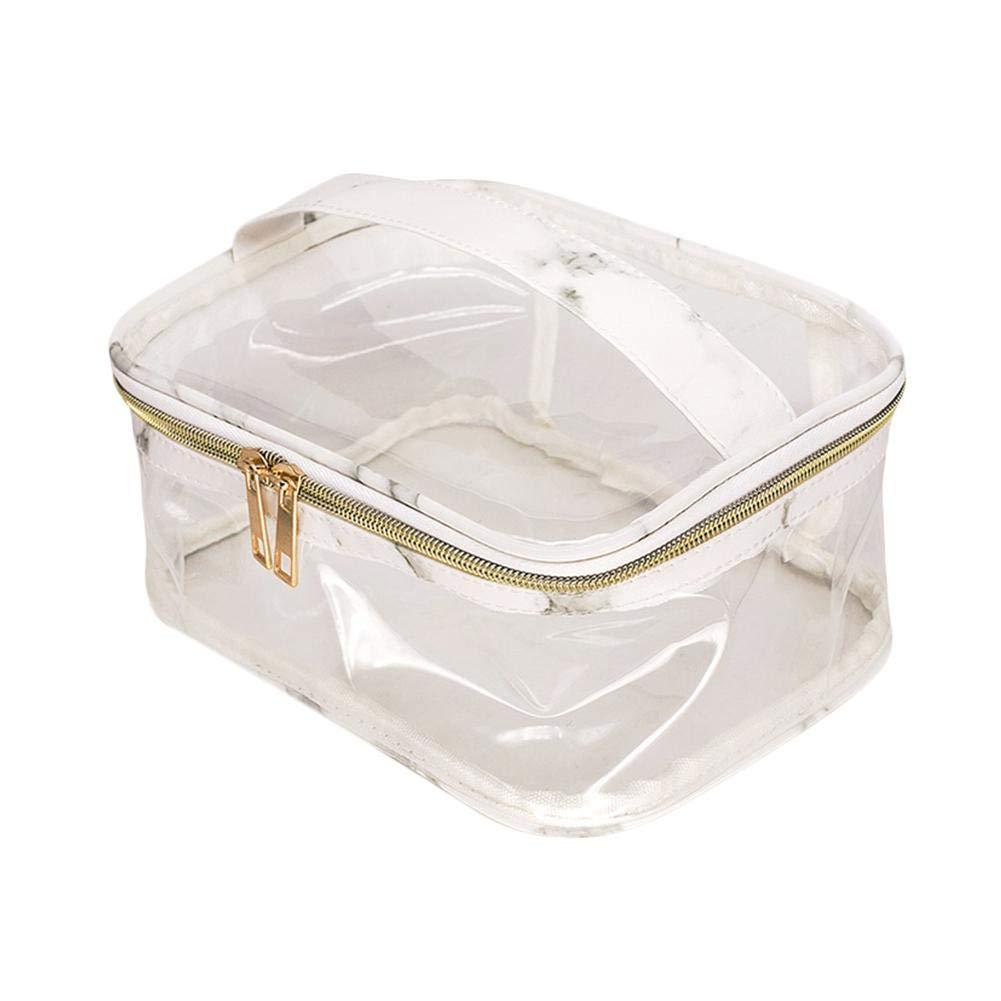 3 ST/ÜCKE PVC Transparente Gro/ße Kapazit/ät Wasserdichte Tasche Marmor Textur Reise Kosmetische Organizer Yves25Tate Tragbare Make-up Aufbewahrungstasche