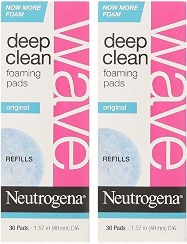 Neutrogena Wave Deep Clean Foaming Pad Refills, 30 Count - 2 Pack