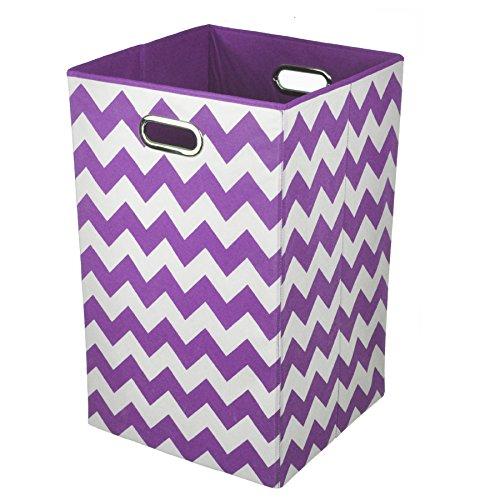 Modern Littles Laundry Bin, Color Pop Purple Chevron (Kids Clothes Hamper compare prices)