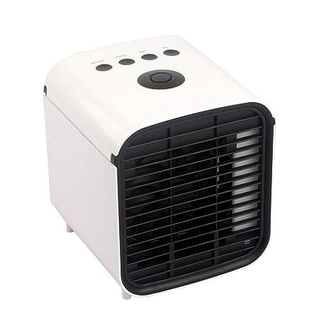 Mksswyx USB Portátil Aire Refrigerador,Aire Enfriador Humidificador,Purificador,Mini Ventilador Aire Acondicionado Evaporación Refrigerador Silencioso Móvil Aire ...
