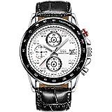 TSS Men's Quartz Chronograph Diver Beze Watch Leather Band T5021N5