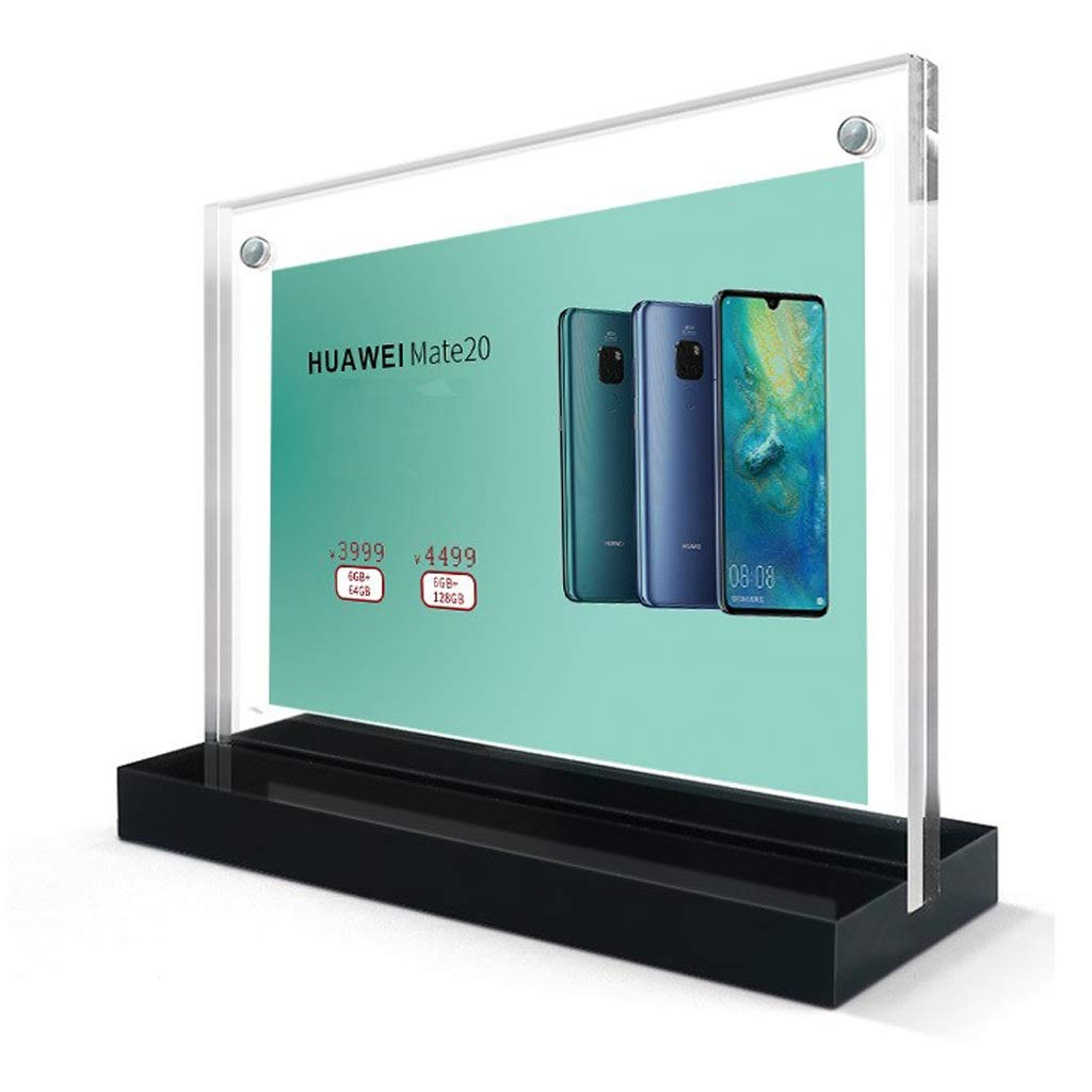 LPYMX Menu Holder Menu Holder A4 Acrylic Poster Lean Plexiglass Leaflet Display Stand A4 Display Stand (Color : B, Size : 210×297mm) by LPYMX