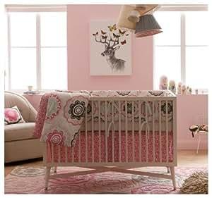 Amazon Com Dwellstudio Crib Set Zinnia Rose