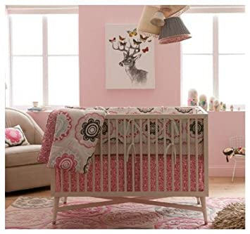 Amazon Com Dwellstudio Crib Set Zinnia Rose Discontinued By