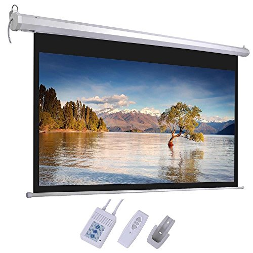 Electric Projector Screen Wall Celling Mounted 100'' 16:9 by KOVAL INC.