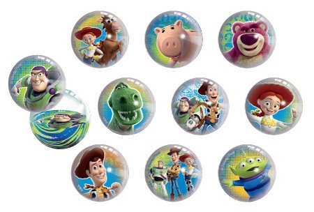 (Disney Toy Story Figure Superball Toy Set of 12 Fun Rubber Bouncing Balls)