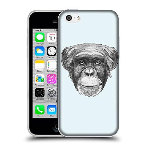 GoGoMobile Coque de Protection TPU Silicone Case pour // Q05170619 Dessin singe Bulles // Apple iPhone 5C