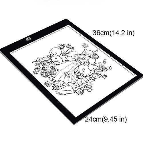 Eb A4 Tracing Light Box LED Ultra-Thin Light Pad Portable Artist Drawing Tattoo Board Pad Table Stencil Display by Baby Elephant (Image #3)