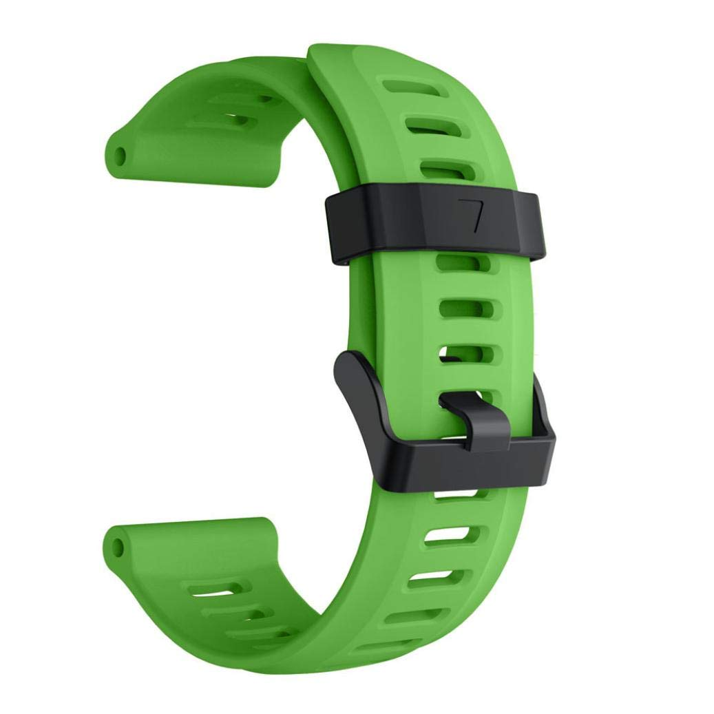 For Garmin Fenix 5X Plus,KFSO Soft Silicone Strap Replacement Watch Band (Green)