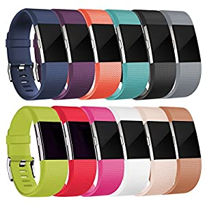 Replacement bands for Fitbit Charge 2, Fitbit Charge2 Wristbands,Large 12 colors