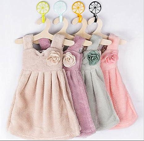 urtoys 2pcs Lovely falda vestido forma Kids Los Niños En Casa Cuarto de baño para colgar