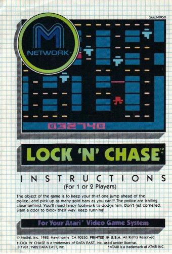 Lock 'N' Chase Atari 2600 Instruction Booklet (Manual Only - NO GAME) (Atari Video Game Manual)