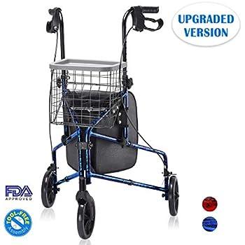 Amazon.com: 3 Rueda Aluminio Andador Con Ruedas: Health ...