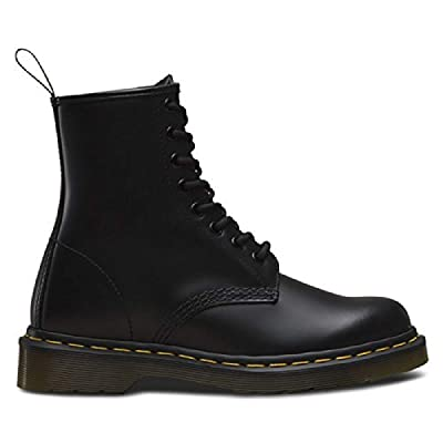 Dr. Marten's Women's 1460 8-Eye Leather Boots, Black Greasy, 6 B(M) US Women / 5 D(M) US Men | Mid-Calf