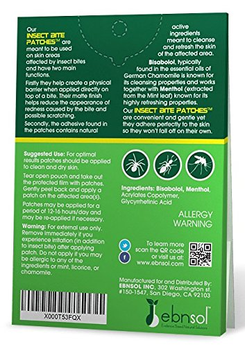 After Insect Bite Patches™ - Natural After Insect Bite Cosmetic Patches ● Reduce Appearance of Redness & Itching ● Protect Affected Area ● 100% Satisfaction Guarantee by ebnsol (Image #2)