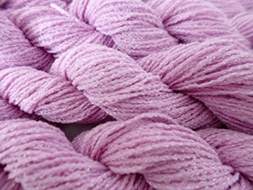 Orchid Pink Acrylic Nylon Blend Stretch Knit Fingering Weight Yarn