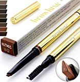 Eyebrow Pencil: Best Brow Pen Makeup Pencils & Spoolie Brush For ALL Eye Brows (NUTMEG) In 8 Hair COLOR of Waterproof Brown, Blonde, Black, Gray & Light Red Tint Kit. By Pro Microblading Women Stylist