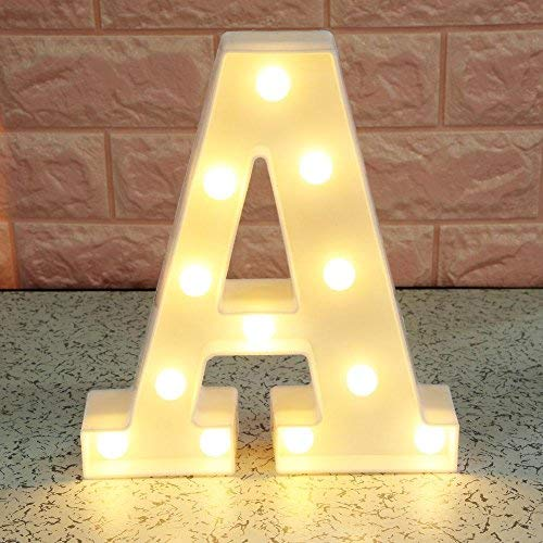 Questionno 3D Letter LED Night Light Wall Hanging Marquee Sign Alphabet Lamp Home Decor