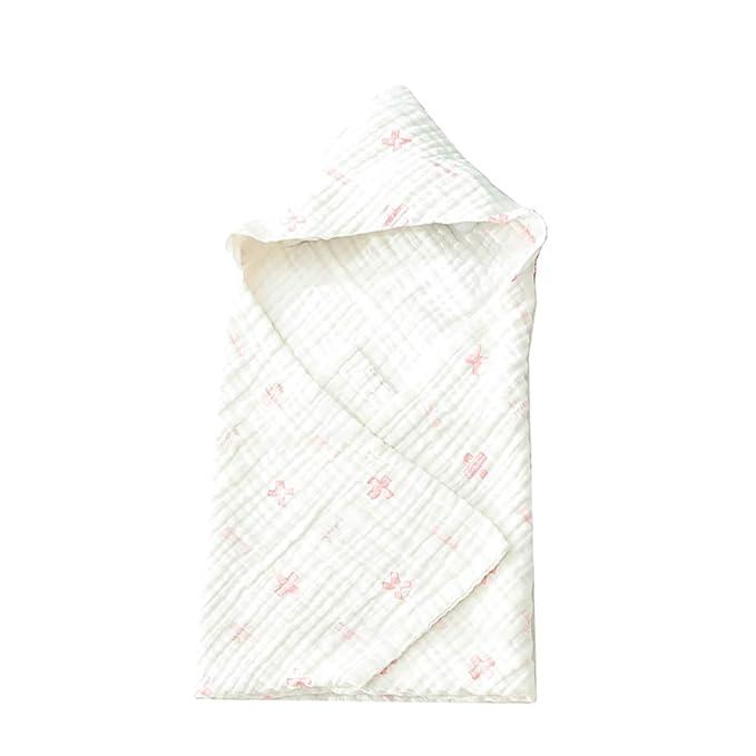 WYQ Toallas con Capucha para niños pequeños Unisex Toallas de baño de algodón Suave para bebés, Recién Nacidos Toallas pequeñas con Capucha 81 × 81 cm ...