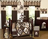 Sweet Jojo Designs Chocolate Brown Teddy Bear Baby Boys Bedding 9pc Crib Set