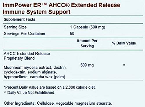 Immpower ER AHCC (Extended Release), 60 Capsules