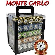 1000pcs 14g Monte Carlo Poker Club Poker Chips Set with Acrylic Case Custom Build