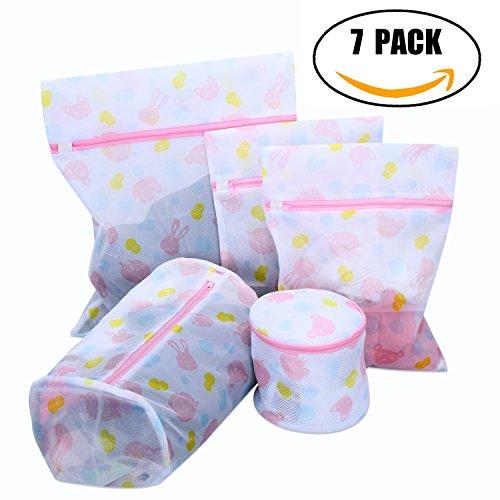 WAMDER Set of 7 Garments Laundry Bag Premium Mesh Wash Bag,H