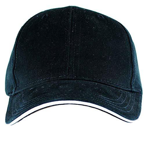 PAGE & TUTTLE Mens Sandwich Bill Structured Cap Golf Hats Baseball Black OSFA