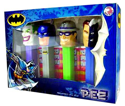 (PEZ Batman Collectors Set with Batman, Joker, Riddler, and Two-Face Candy)
