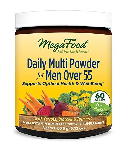 MegaFood, Daily Multi Powder for Men Over 55, All-in-One Who