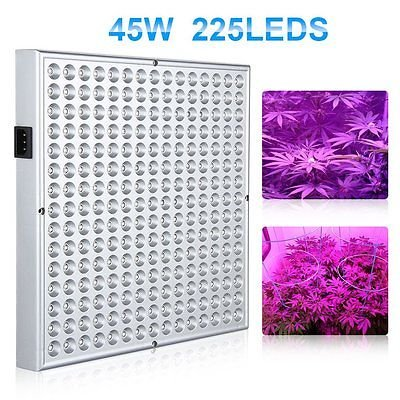 225LED Grow Light Lamp Full Spectrum Blue Red Orange White Quad-band Plant Panel by growLight