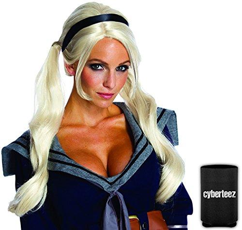 Babydoll Women's Pigtails Ponytails Long Blonde Sucker Punch Costume Wig + (Babydoll Sucker Punch Costume)