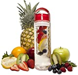 Fruit Infuser Water Bottle 24 oz -- Detox Your Body With Naturally Flavored Infused Water. Build A Healthy Fit Body Using Organic Flavor Infusion! 100% BPA Free Tritan Plastic