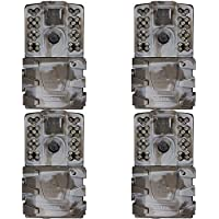 Moultrie A-35 14MP 60 HD Video Low Glow Infrared Game Trail Camera (4 Pack)