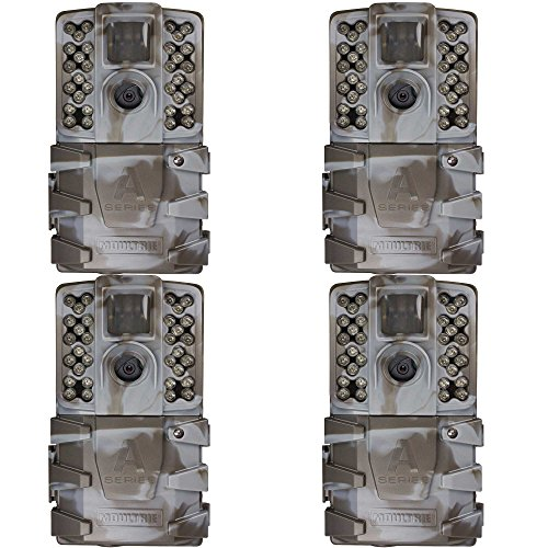 Moultrie A-35 14MP 60′ HD Video Low Glow Infrared Game Trail Camera (4 Pack)