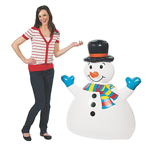 DELUXE INFLATABLE JUMBO HAPPY SNOWMAN