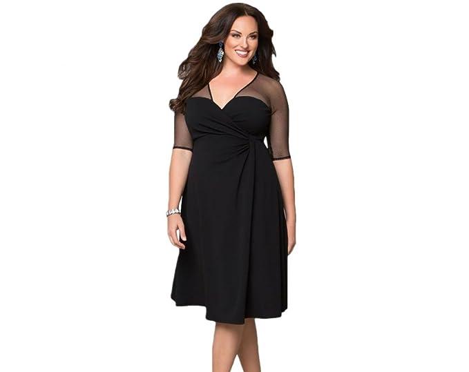 deb8feb53a Vestidos Tallas Grandes Plus Ropa De Moda para Mujer Sexys Casuales Largos  De Fiesta y Noche