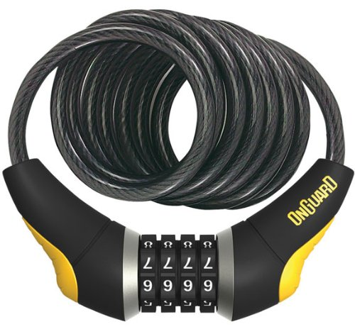 ONGUARD Doberman Coil Cable with Resettable Combo Cable Coil, 8mmx6-Feet ()