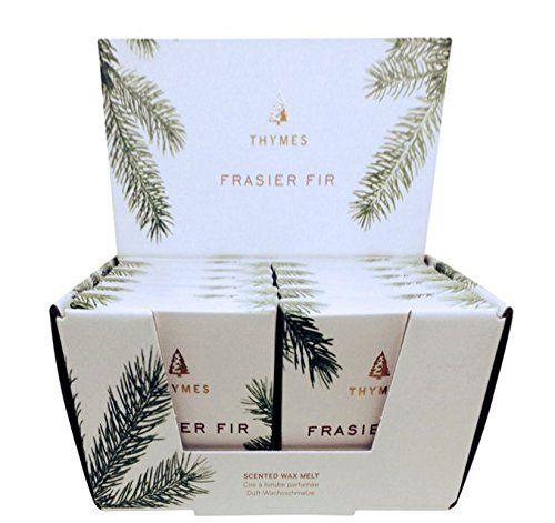 Thymes Frasier Fir Wax Melt Scented Refill 10-pack & LuxeLight Tea Lights by Thymes