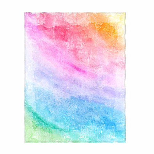 Custom Design Rainbow Theme Soft Velvet Plush Throw Blanket Cozy Fleece Blanket Perfect for Couch Sofa bed or Travelling Queen Size