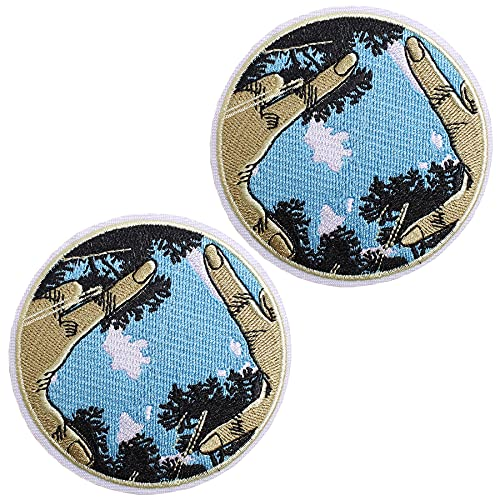 J.CARP I'm Not Alone Explore Outdoor Patch Embroidered Applique Iron On / Sew On Emblem, 2 Pieces