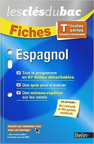 Télécharger en ligne Espagnol TLE - Les Clés du Bac epub, pdf