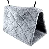 Alfie Pet by Petoga Couture - Garnett Hammock for Small Animals like Dwarf Hamster and Mouse - Color: Grey, Size: Large