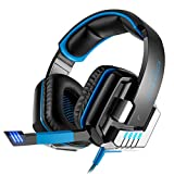 DZT1968 KOTION EACH G8000 Stereo Gaming Headset PC With Microusb (Blue)