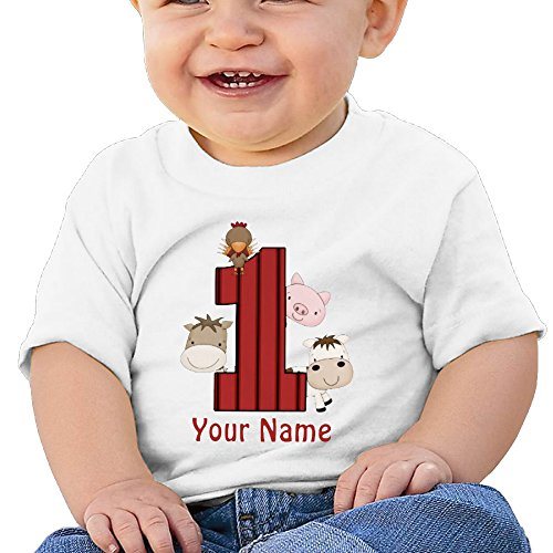 Alin Party Supplies (ALIN Organic Baby T Shirts Unisex Shirts Baby 1st Birthday Farm Personalized)