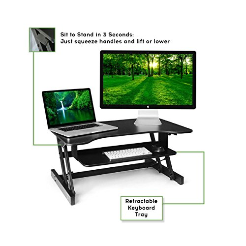 The House Of Trade Standing Desk Height Adjustable Sit To