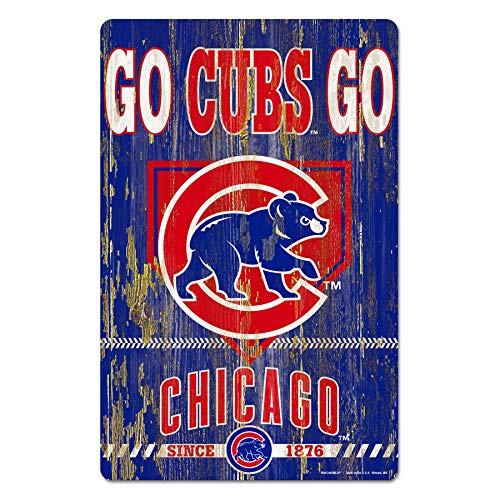 - MLB Chicago Cubs 11-by-17 Inch Wood Season's Greetings Sign